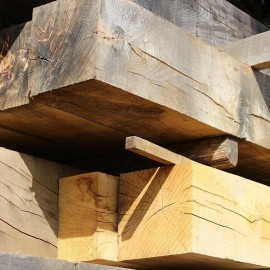 Air Dried Oak Beams 100mm x 100mm