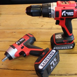 2 in 1 Cordless 18V Drill and Impact Wrench Kit