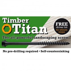 Timber Titan Wood Screws 150mm