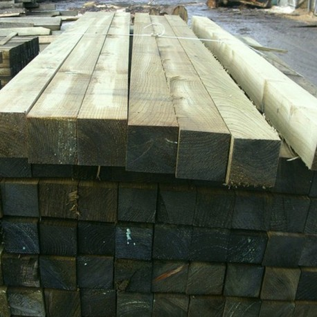 Treated Softwood Panel Post