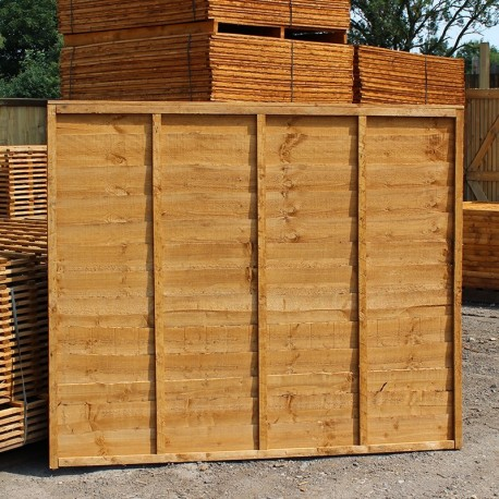 Larch lap panel buy panels and posts online from the for Cheap decking boards uk