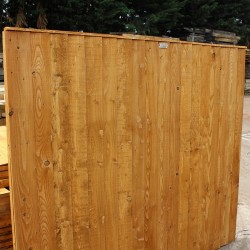 Brown Eco-Treated Softwood Featheredge Fence Panel
