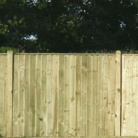 Green Eco-Treated Softwood Featheredge Fence Panel