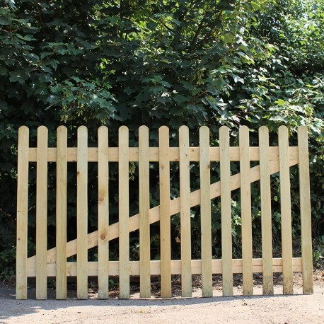 New Oak Picket Panel | Buy Oak Fencing Online from the Experts at UK Timber