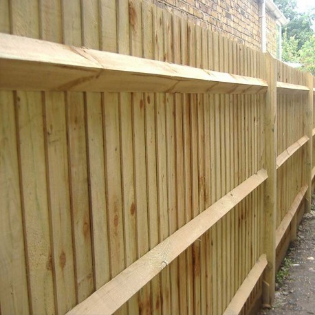 Treated Softwood Arris Rails