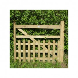 Oak Half Paled Gate - Rounded Pales