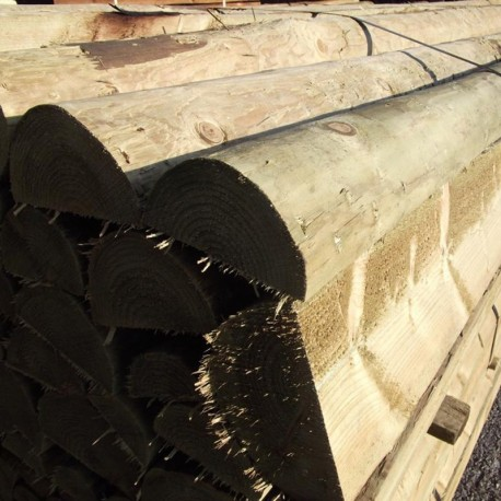 Machine Turned Pine Rail (Half Round)