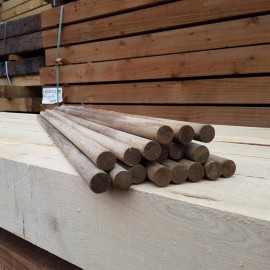 Machine Rounded Oak Stakes 25mm