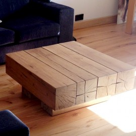 Oak Beam Coffee Tables - 4 Beam Top