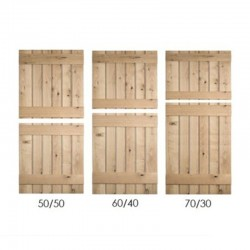 Ledged Stable Oak Doors