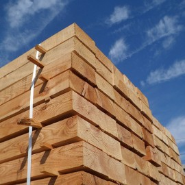 Pallet of New Untreated Larch/Douglas Fir Sleepers 200mm x 100mm - FREE EXPRESS DELIVERY