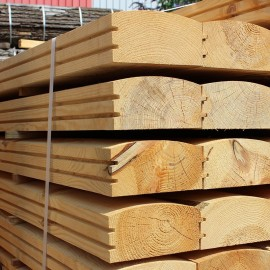 Pallet of Untreated Larch/ Douglas Fir Log Lap Sleepers 194mm x 94mm - FREE EXPRESS DELIVERY