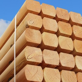 Pallet of Larch/Douglas Fir Machine/Moulded Sleepers 120mm x 100mm - FREE EXPRESS DELIVERY