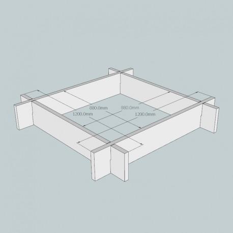 Oak Raised Bed Kit - Square