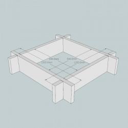 New Untreated British Larch/Douglas Fir Raised Bed Kit - Square