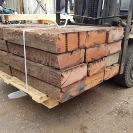 Pallet of 35 Extra Large Tropical Hardwood Sleepers - 800mm x 280mm x 130mm - FREE EXPRESS DELIVERY