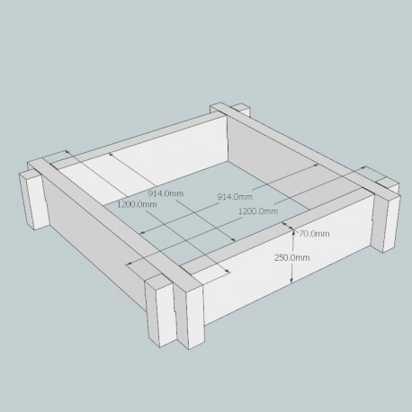 Heavyweight Oak Raised Bed Kit - Square