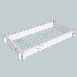 Heavyweight Oak Raised Bed Kit - Rectangular
