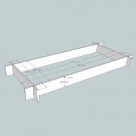 Oak Raised Bed Kit - Rectangular