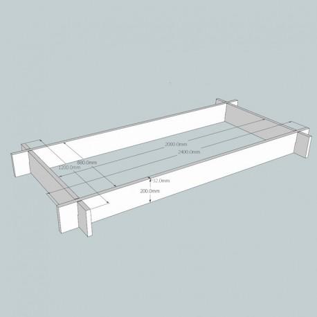 Oak Raised Bed Kit - Rectangular