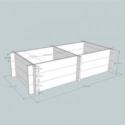 Regular Oak Raised Bed Kit - Split Long and Deep