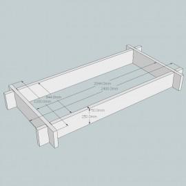New Untreated British Larch/Douglas Fir Raised Bed Kit - Rectangular