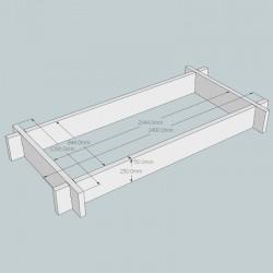 New Untreated Larch/Douglas Fir Raised Bed Kit - Rectangular