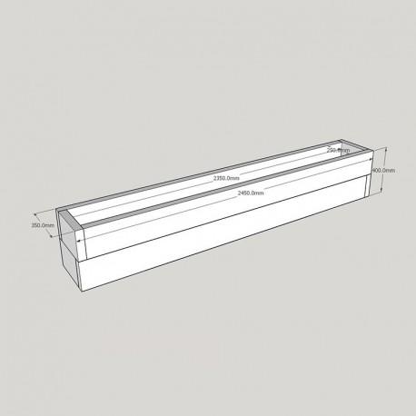 Planed FlowerBed Oak Kit - 2. 4m x 0. 3m.
