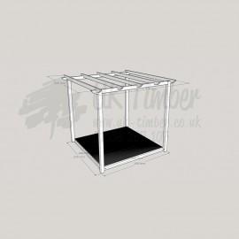 Garden Oasis - 1. 8m2 Deck & 2. 4m2 Pergola.