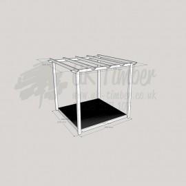 Garden Oasis - 2. 4m2 Deck & 3. 0m2 Pergola.