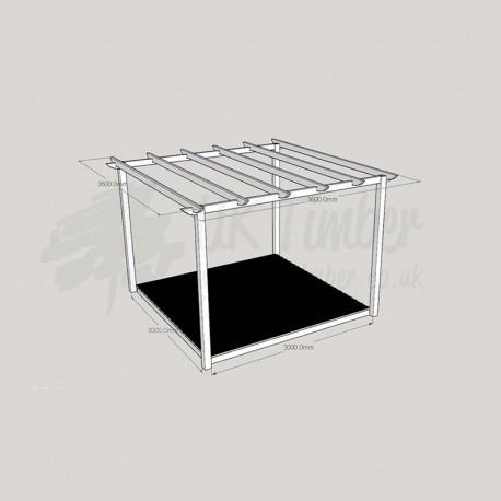 Garden Oasis - 3. 0m2 Deck & 3. 6m2 Pergola.