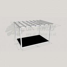 Garden Terrace - 2.4m x 3.6m Deck & 3.0m x 4.2m Pergola