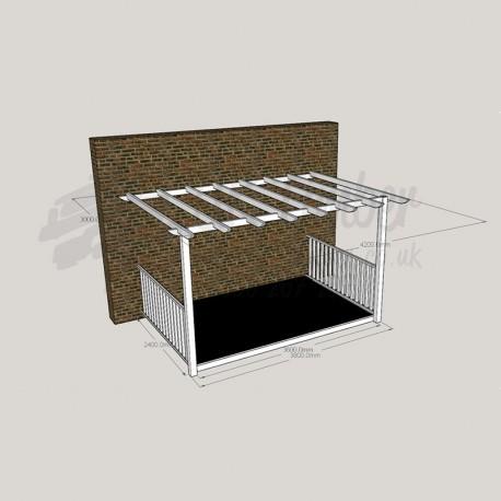 Open Porch - 2. 4m x 3. 6m Deck & 3. 0m x 4. 2m Pergola.