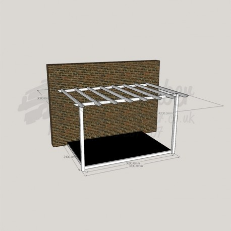 Open Verandah - 2. 4m x 3. 6m Deck & 3. 0m x 4. 2m Pergola.