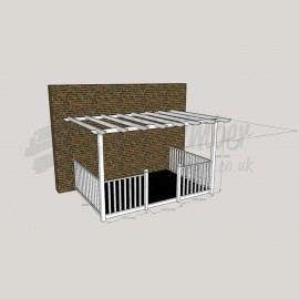 Ultima Verandah - 2.4m x 3.6m Deck & 3.0m x 4.2m Pergola