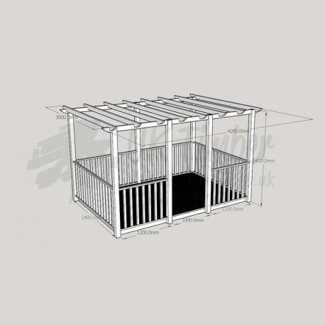Ultima Terrace Plus - 2. 4m x 3. 6m Deck & 3. 0m x 4. 2m Pergola.