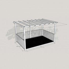 Ultima Terrace - 2.4m x 3.6m Deck & 3.0m x 4.2m Pergola