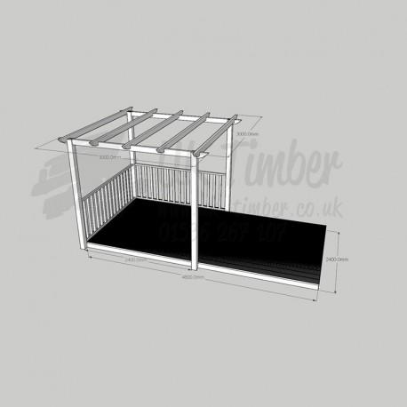 Open Patio - 2. 4m x 4. 8m Deck & 3. 0m2 Pergola.