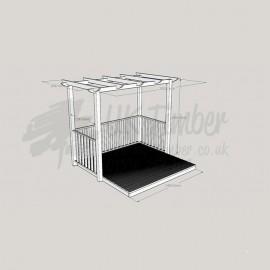 Patio Arbour - 2.4m2 Deck & 1.8m x 3.0m Pergola