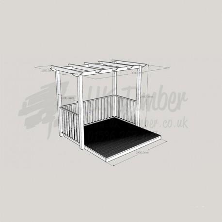 Patio Arbour - 2. 4m2 Deck & 1. 8m x 3. 0m Pergola.