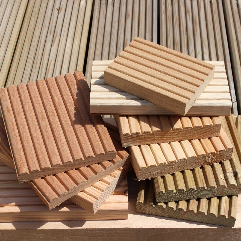 Sample decking boards buy decking boards online from the for Timber decking thickness