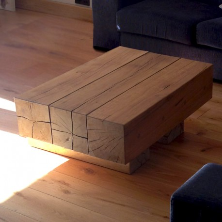 Oak Beam Coffee Tables   3 Beam Top | Buy Oak Coffee Tables Online From The  Experts At UK Timber