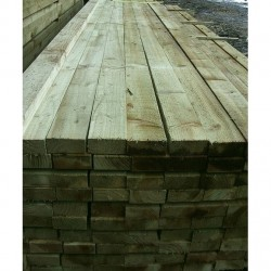 Treated Softwood Fencing Rail