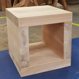 Oak Sleeper Cube Side Table