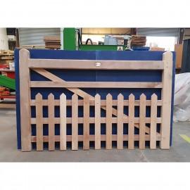Oak Half Paled Gate - Pointed Palings