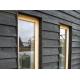 Black Painted Kiln Dried Whitewood Featheredge Cladding