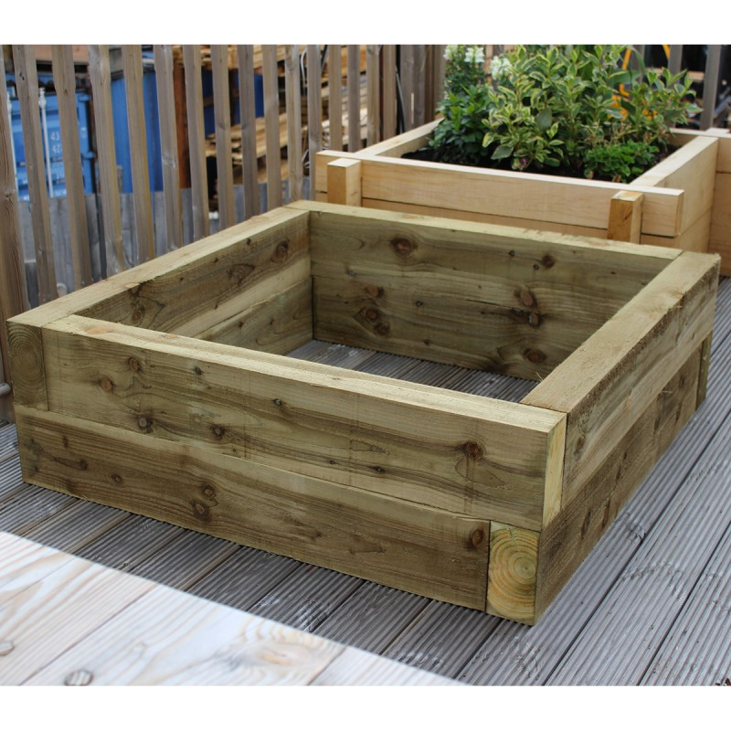 New Green Eco Treated Softwood Raised Bed Kit