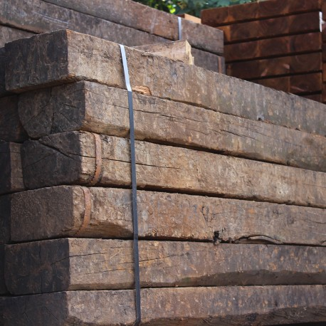 Reclaimed Oak Sleeper Buy Reclaimed Creosoted Oak Sleepers Online From The Experts At Uk Timber