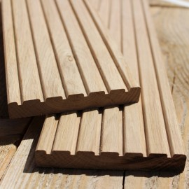 Lightweight Oak Decking Boards