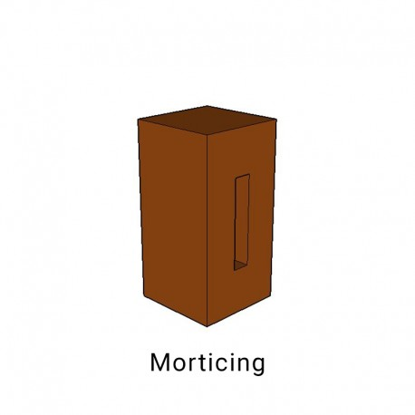 Morticing